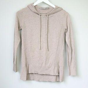 Athleta Drawstring Hooded Long Sleeve Sweater